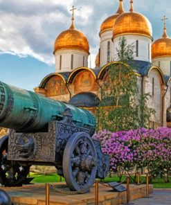 Old Cannon Near The Dormition Cathedral paint by numbers