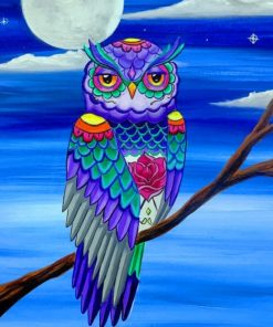 Owl Art paint by numbers