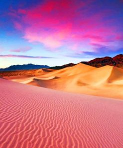 Pink Sunset Sand Dunes paint by numbers