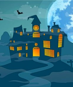 Scary Halloween Night painting by numbers