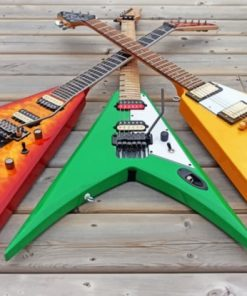V Shaped Electric Guitars paint by numbers