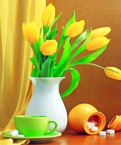 Yellow Tulips Photography paint by numbers