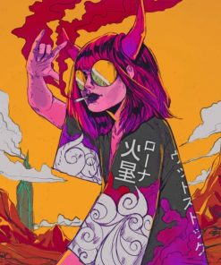 Aesthetic Grunge Trippy Art painting by numbers