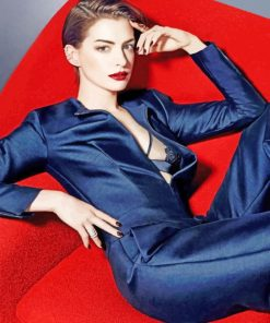 Anne Hathaway Photoshoot paint by numbers