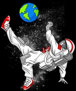 Astronaut Soccer Paint by numbers