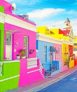 Bo-Kaap Cape Town painting by numbers