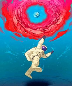Cartoon Astronaut painting by numbers