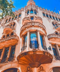 Casa Batllo Barcelona painting by numbers