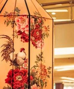 Chicken And Flowers Decoration paint by numbers