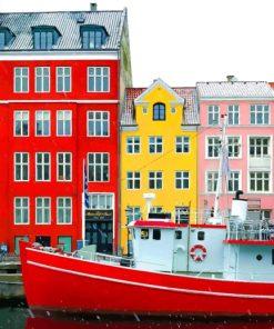 Copenhagen's Colorful Buildings paint by numbers