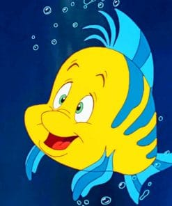 Flounder Fish Disney paint by numbers