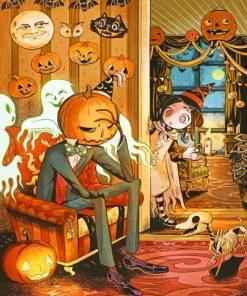 Hackto Oshiro Halloween painting by numbers
