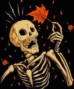 Skeleton Art painting by numbers