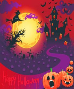 Happy Halloween paint by numbers