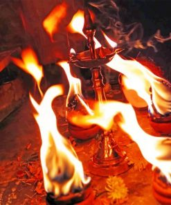 Indian Fire Lamps paint by numbers