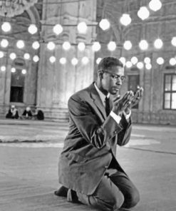 Malcolm X Praying paint by numbers