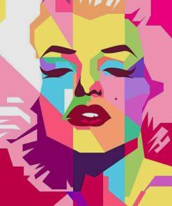 Marilyn Monroe painting by numbers