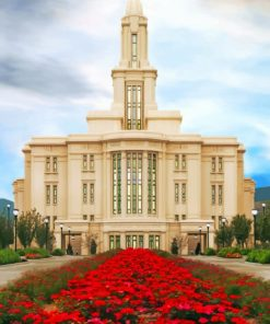 Payson Utah Temple paint by numbers