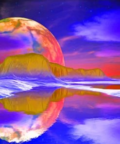 Planet Reflection painting by numbers