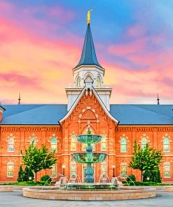 Provo City Center Temple Utah paint by numbers