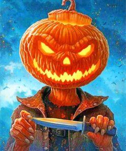 Pumpkin Head paint by numbers