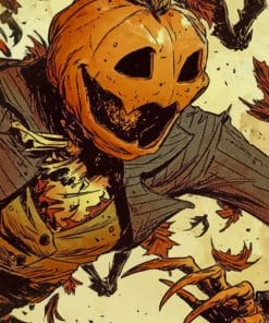 Pumpkin Man Drawing painting by numbers