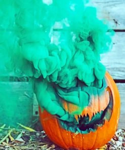 Pumpkin With Smoke Bomb paint by numbers