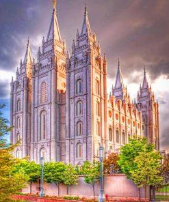 Salt Lake Temple Utah paint by numbers