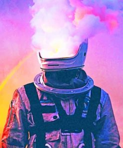 Smoke Astronaut paint by numbers