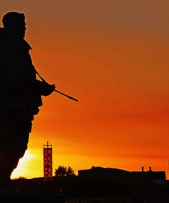 Soldier's Silhouette paint by numbers