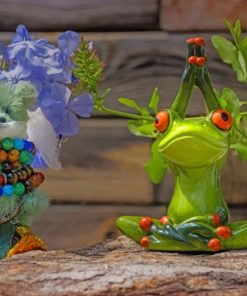 Teddy Bear And Frog's Statue paint by numbers