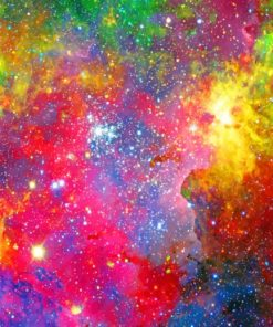 Colorful Universe paint by numbers