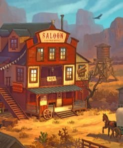 Western Bar Saloon paint bynumbers
