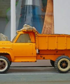 Yellow Toy Truck paint by numbers