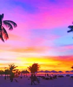 Aruba Sunset paint by numbers
