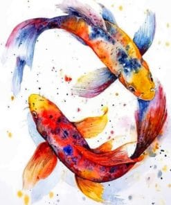 Colorful Koi Fishes paint by numbers