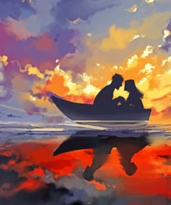 Couple On Boat paint by numbers