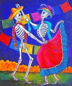 Dancing Skulls paint by numbers