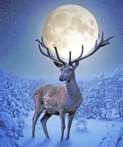Deer Moon paint by numbers