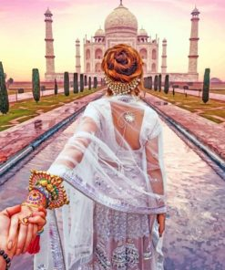 Follow Me To Taj Mahal paint by numbers