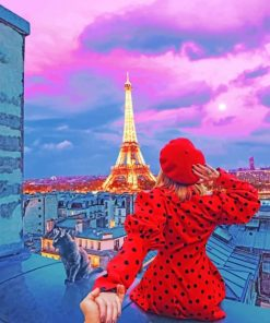 Follow Me To Eiffel Tower paint by numbers