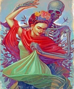 Frida And Skull Dancing Paint by numbers