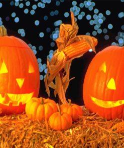 Halloween Pumpkins paint by numbers