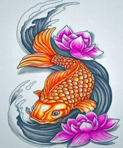 Koi Fish Art paint by numbers