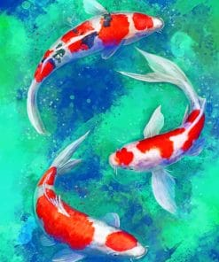 Koi Fishes paint by numbers