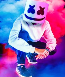 Marshmello Mask paint By Numbers