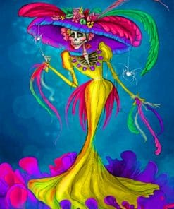Mexican Skeleton Lady paint by numbers