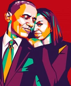 Michelle And Barack Obama paint by numbers