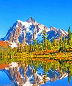 North Cascades National Park paint by numbers