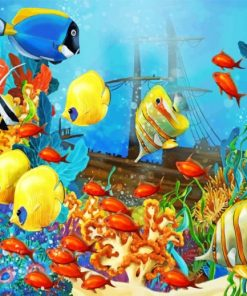 Ocean Fishes paint by numbers